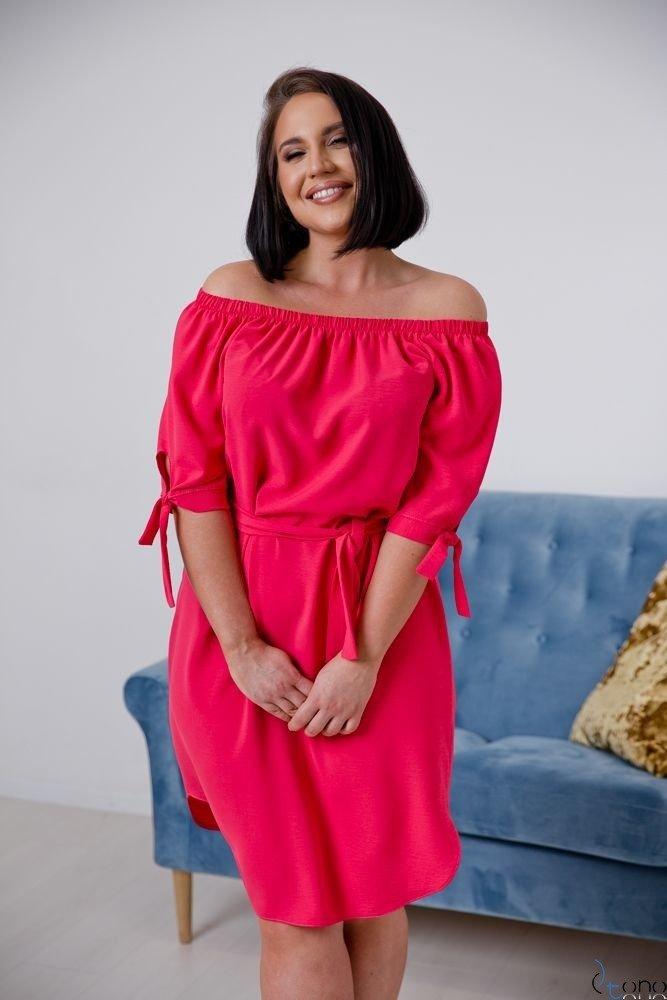 Koralowa Sukienka NEFRITTA Plus Size
