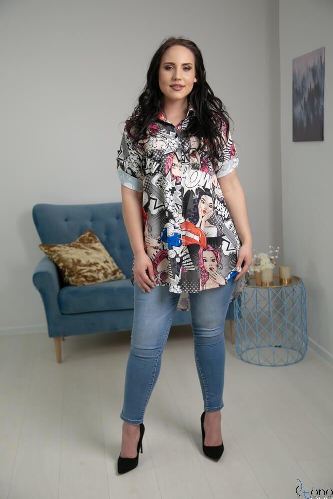 Koszula ALESSIA Plus Size Wzór 3