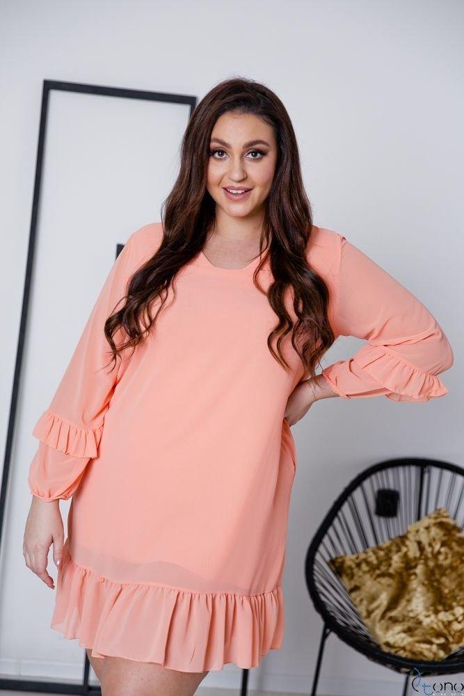 Łososiowa Sukienka CORTLAND Plus Size