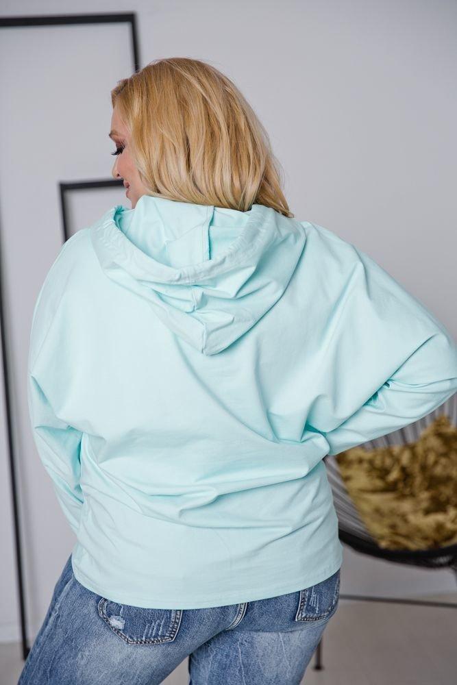 Miętowa Bluza NOSTALGIA Plus Size