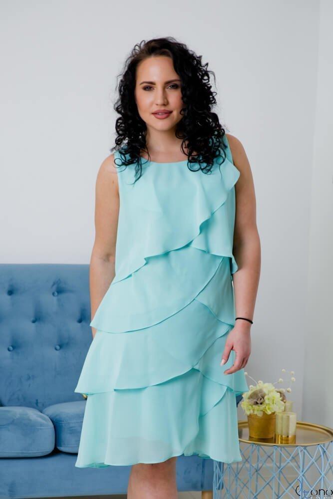 Miętowa Sukienka SUZIE Plus Size