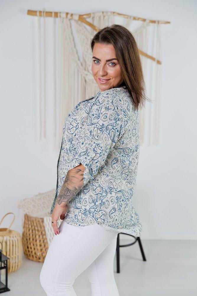 Multikolorowa Koszula TRENA Plus Size Wzór 2