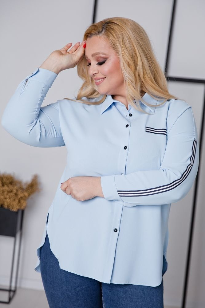 Niebieska Koszula ERINE Plus Size