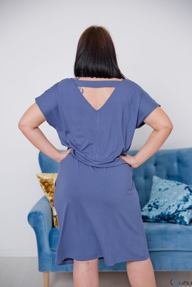 Niebieska Sukienka CARLA Plus Size