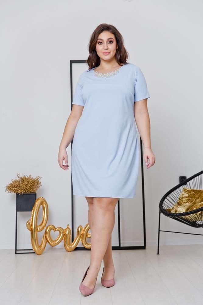 Niebieska Sukienka LOLITA  Plus Size