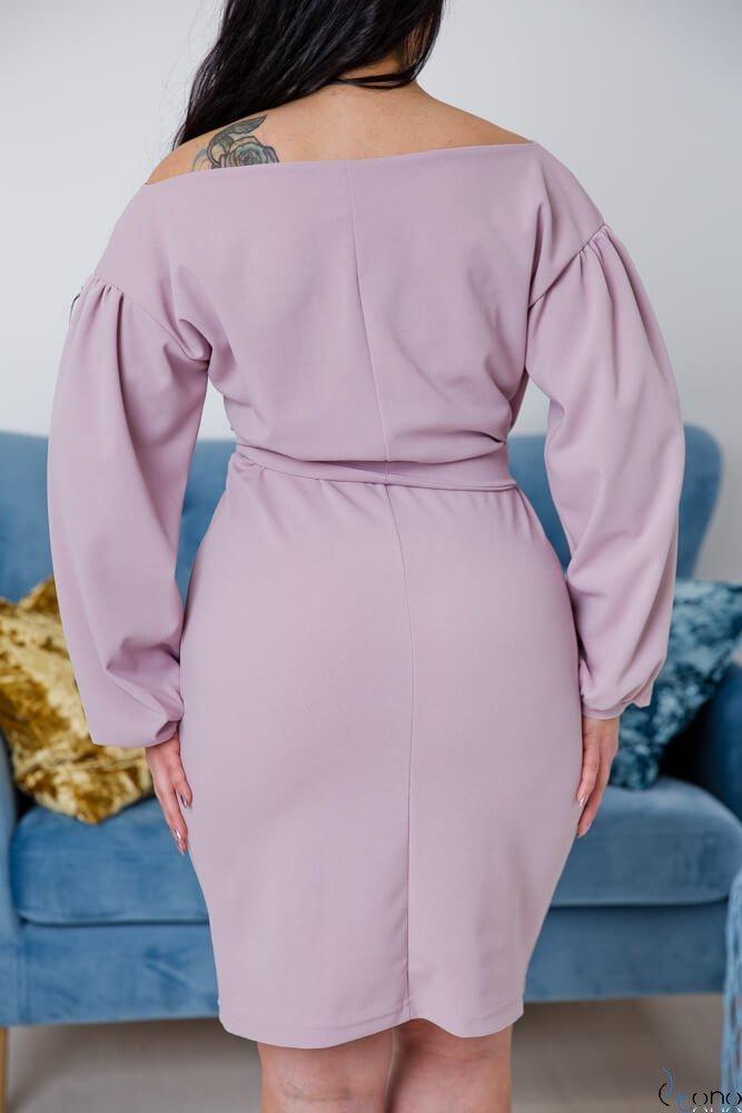 Różowa Sukienka ASHLEY Plus Size