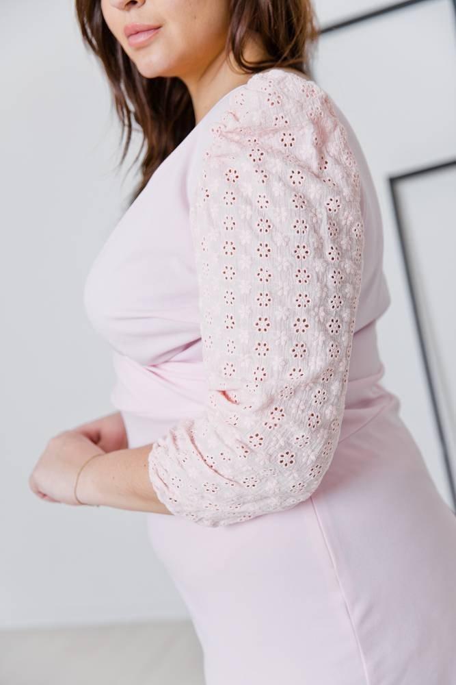 Różowa Sukienka CANDY Plus Size