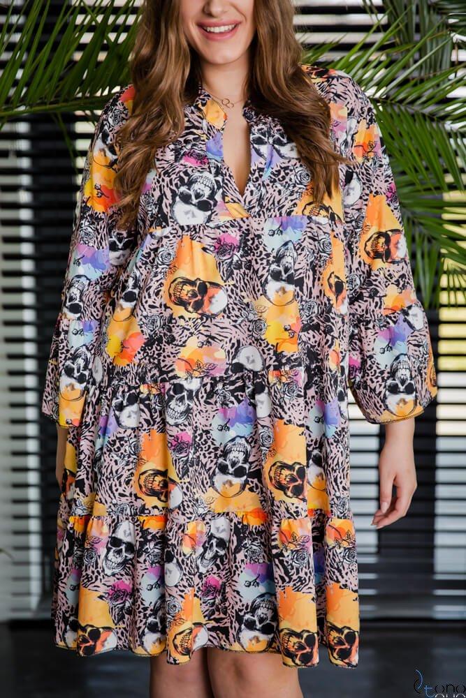 Różowa Sukienka CRAFT Plus Size