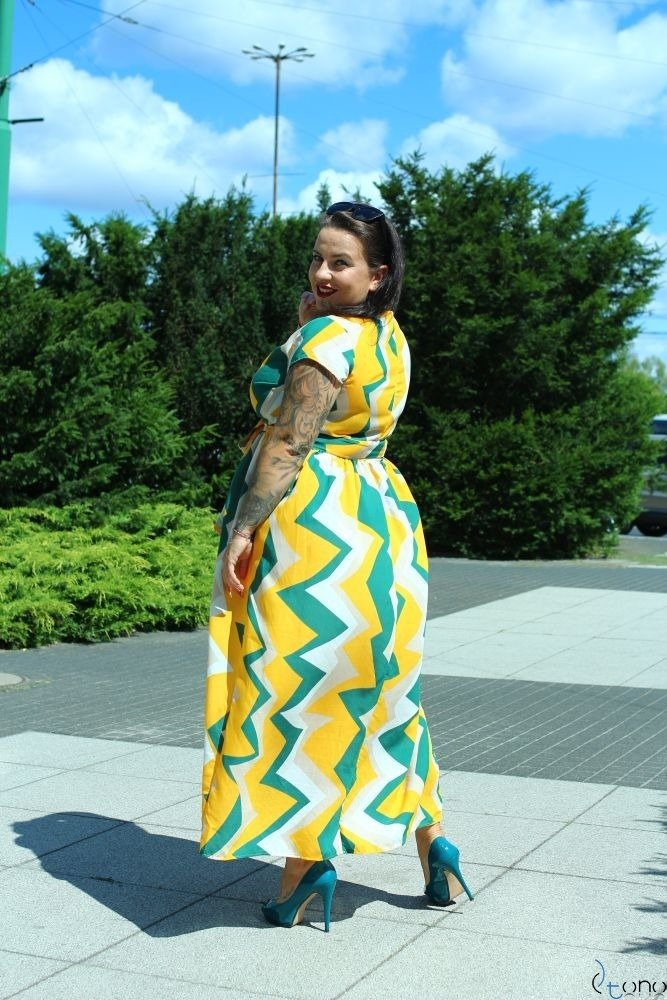 Sukienka ARGINA Plus Size Maxi Wzór 2