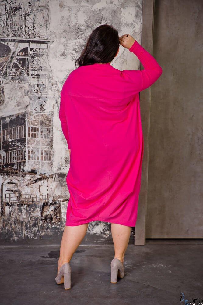 Sukienka BAKARI Plus Size Fuksja