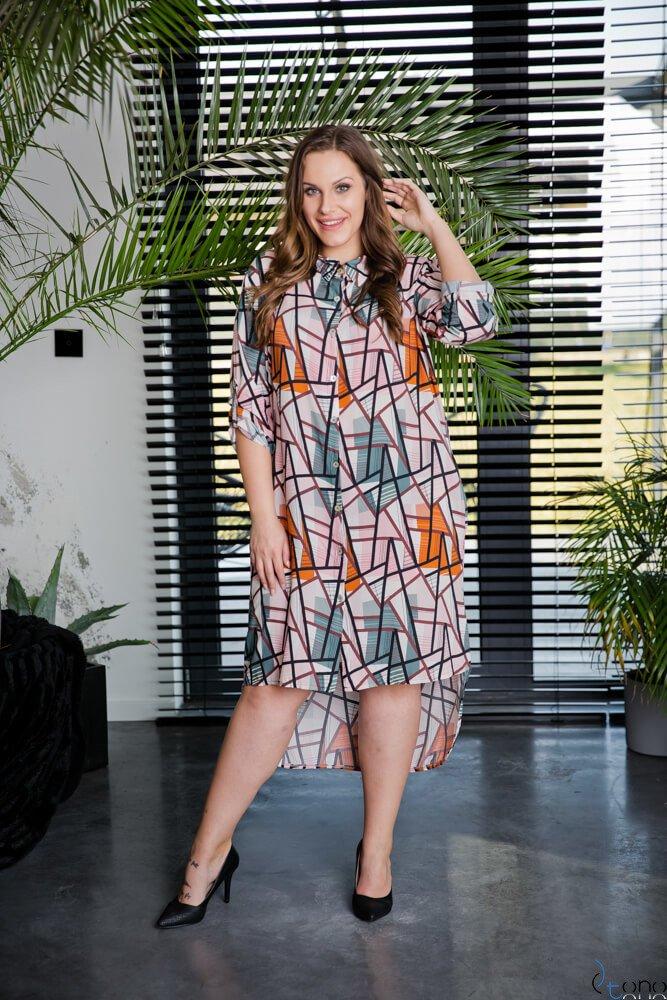 Sukienka CRONACA Plus Size Wzór 4
