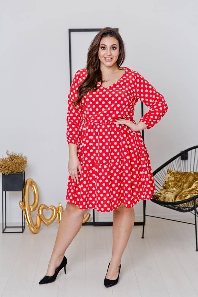 Sukienka FLEUR Plus Size Wzór 3