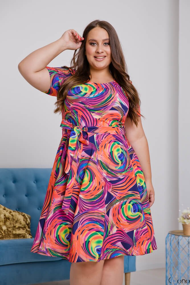 Sukienka ROSITA Plus Size Wzór 15