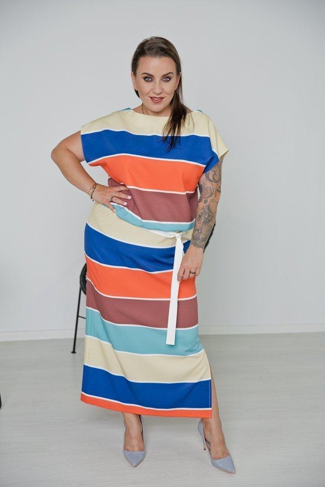 Sukienka SEVA Plus Size Wzór 1