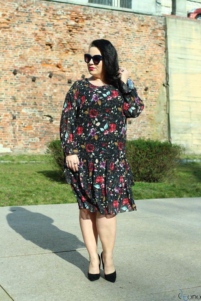 Sukienka SIBILLA Plus Size Szyfon Wzór 2
