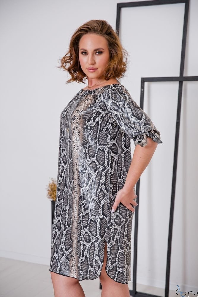 Sukienka SNAKE Plus Size Wzór 1
