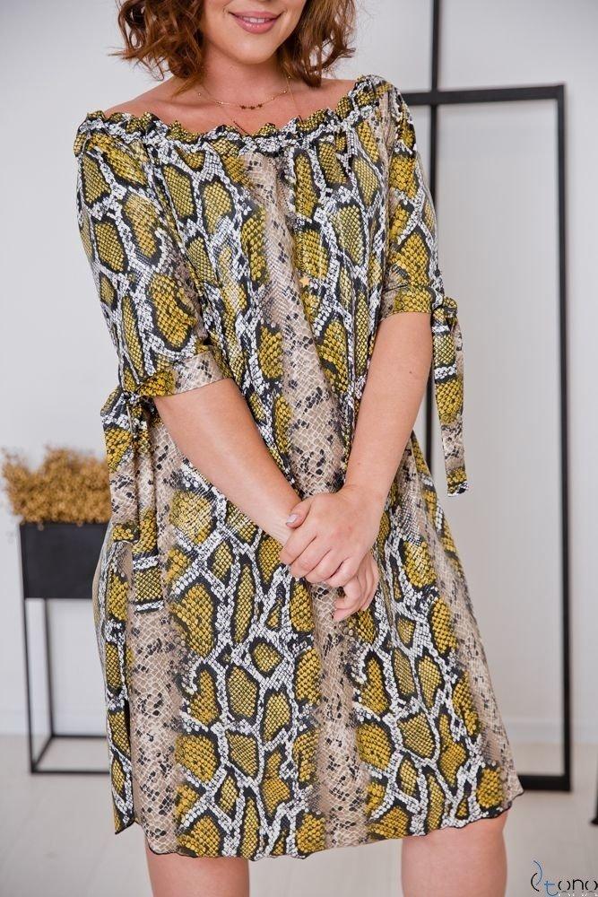 Sukienka SNAKE Plus Size Wzór 2