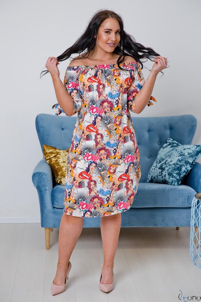 Sukienka SOPRANA Plus Size Wzór 3