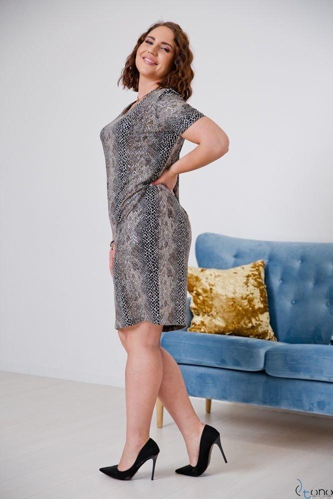 Sukienka STAMPINA Plus Size Wzór 22
