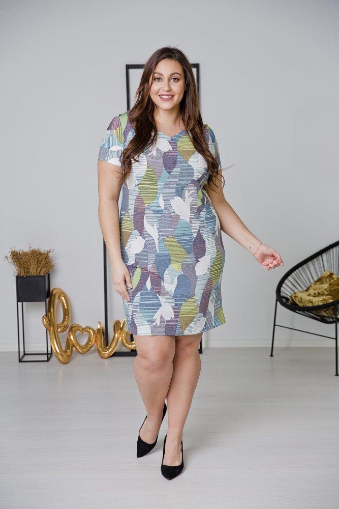 Sukienka STAMPINA Plus Size Wzór 24