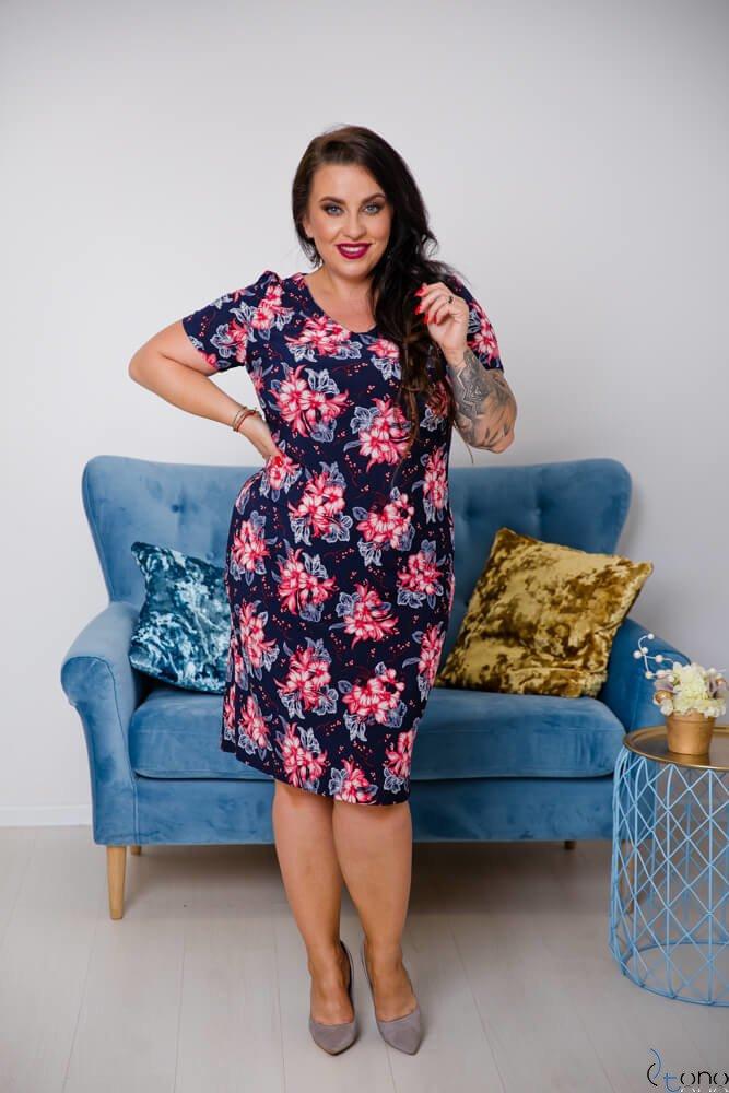 Sukienka STAMPINA Plus Size Wzór 3