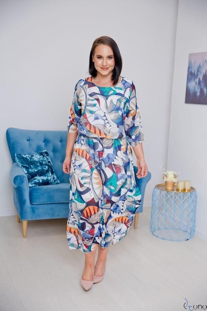 Sukienka WERA Plus Size Maxi Wzór 1