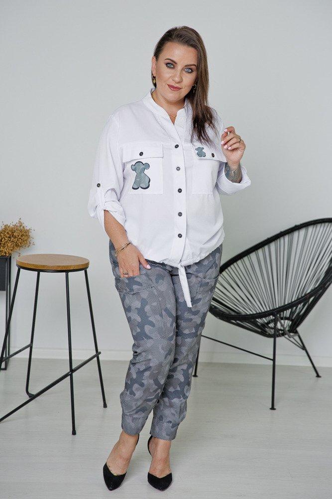 Szare Spodnie PANTI Plus Size