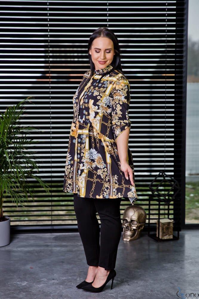 Tunika KAFTA Plus Size Koszulowa Wzór 2
