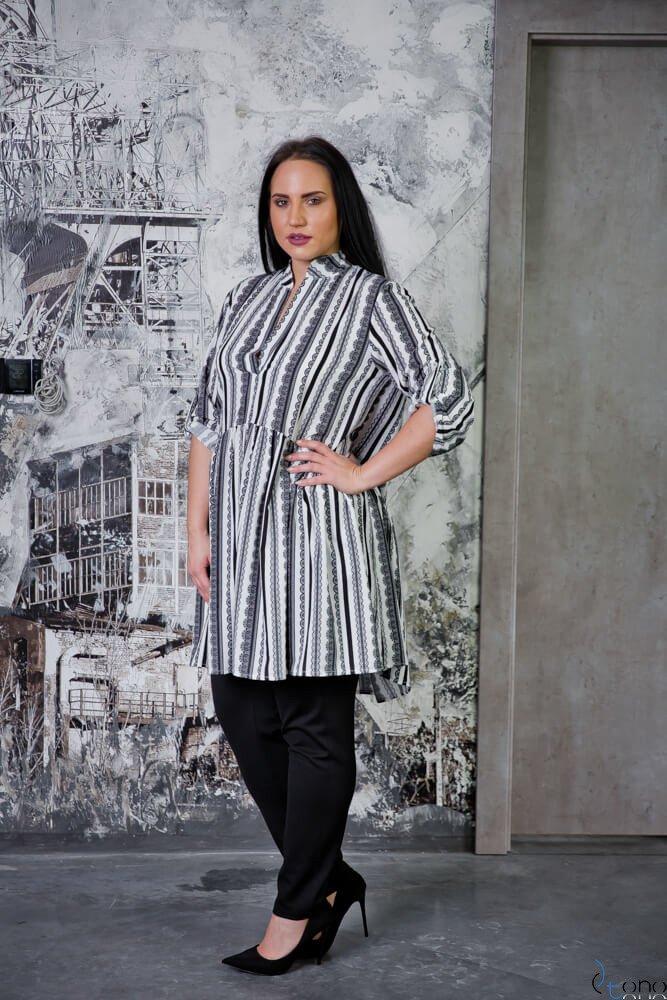 Tunika KAFTA Plus Size Koszulowa Wzór 6