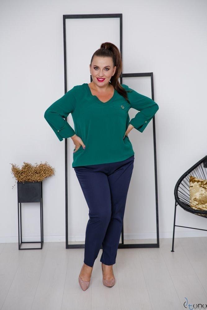 Zielona Bluzka RAFAELA Plus Size