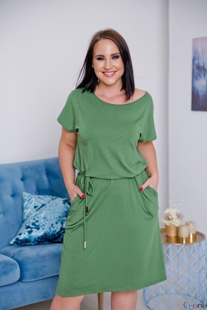 Zielona Sukienka CARLA Plus Size