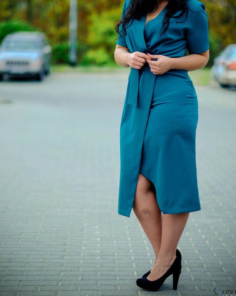Zielona Sukienka FERRITA Plus Size