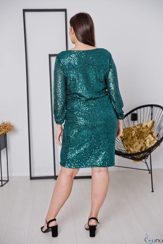 Zielona Sukienka FUERA Plus Size