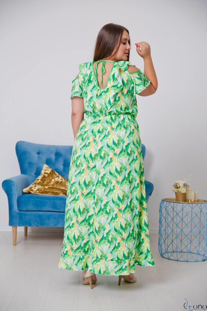 Zielona Sukienka GRESTIO Plus Size