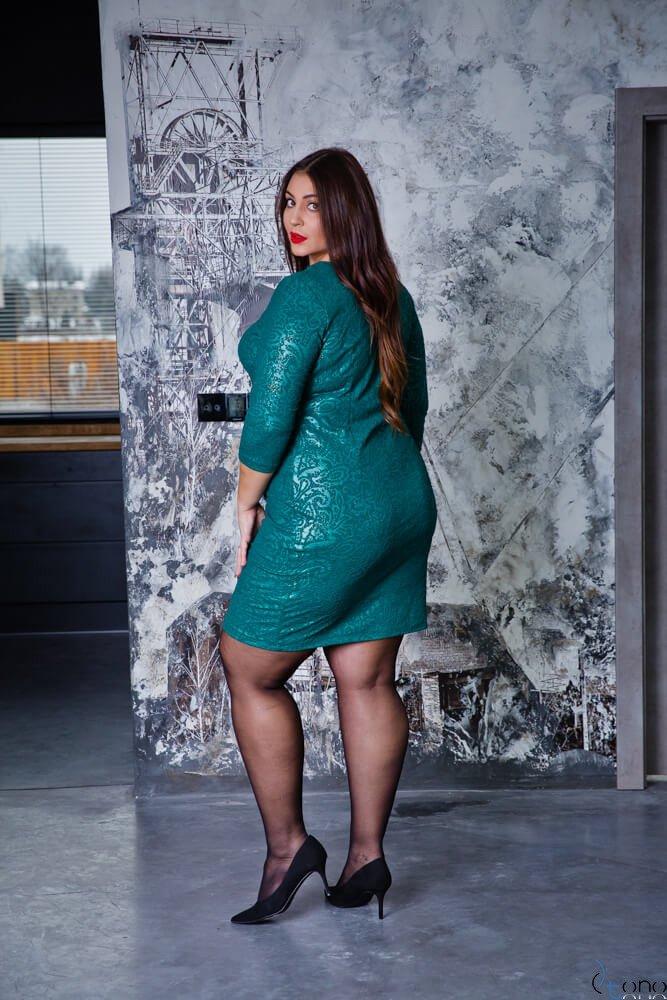 Zielona Sukienka LERRIDA Plus Size