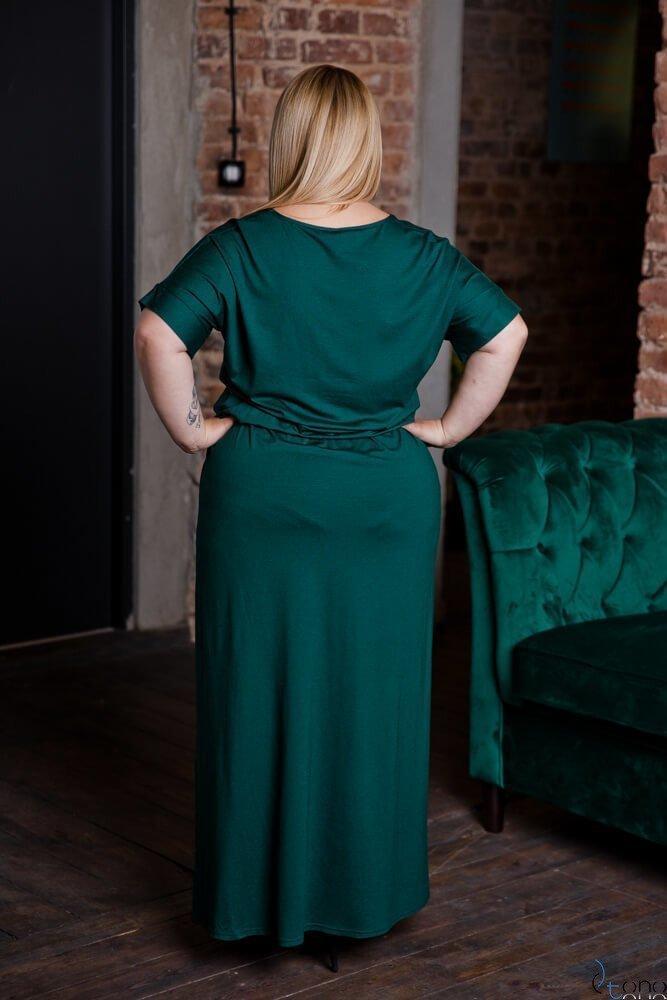 Zielona Sukienka MAKINA Plus Size Maxi