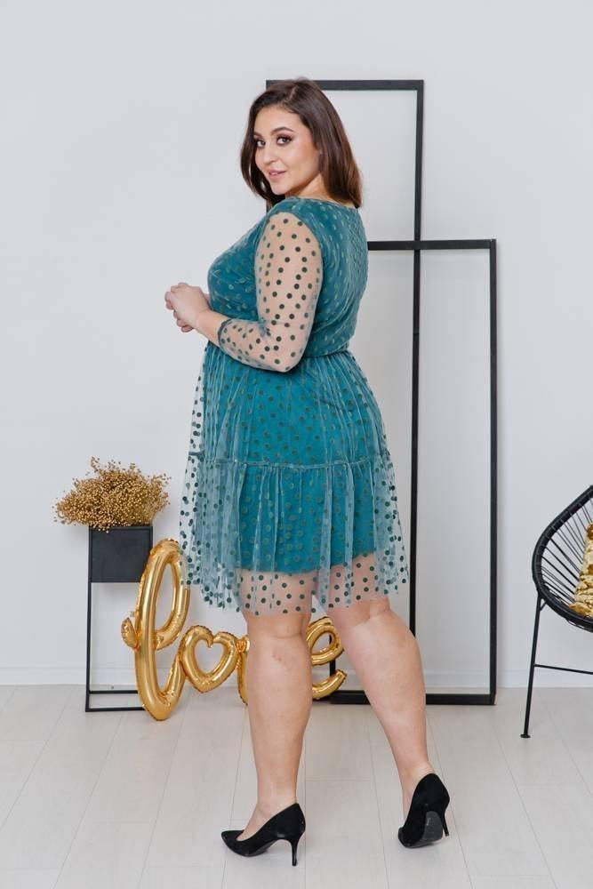 Zielona Sukienka MATTIA Plus Size