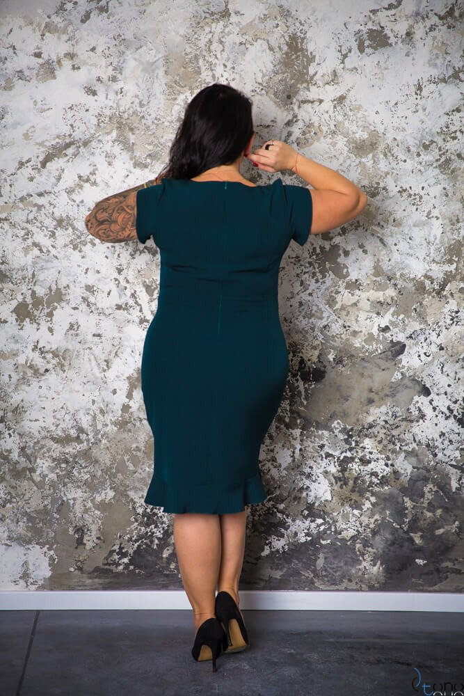 Zielona Sukienka PAOLA Plus Size