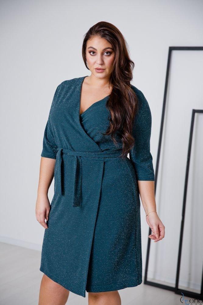 Zielona Sukienka  SOMIER Plus Size