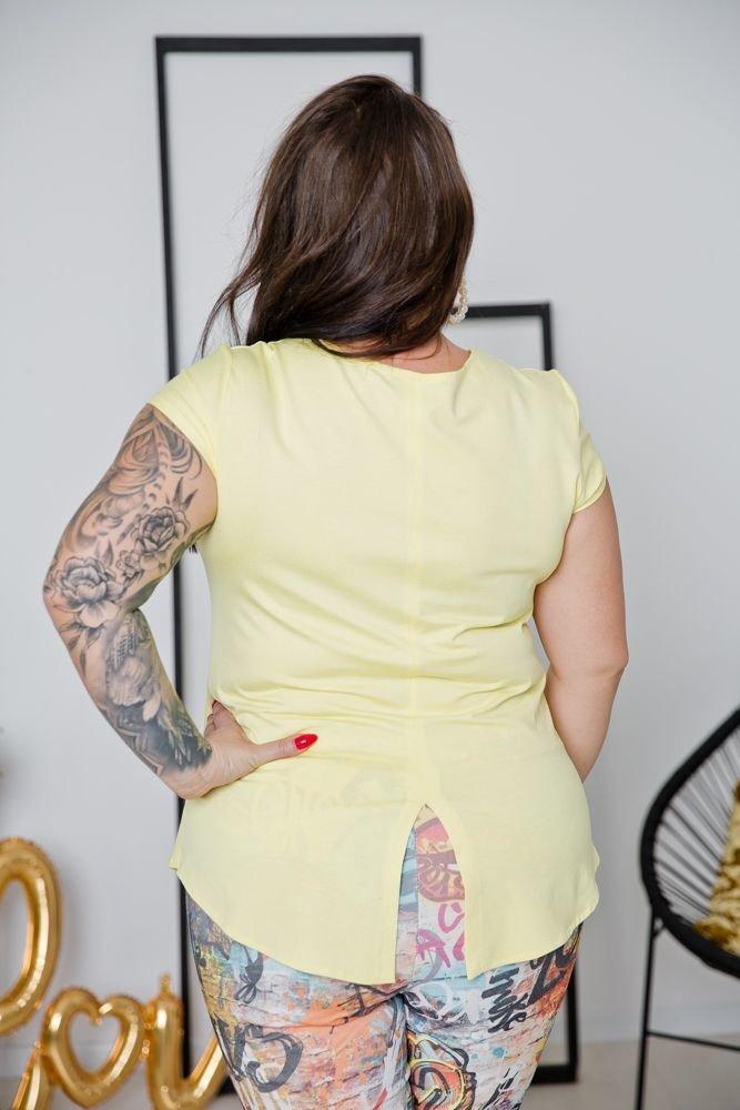 Żółta Bluzka ALMENA Plus Size