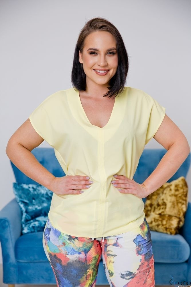 Żółta Bluzka COVER Plus Size