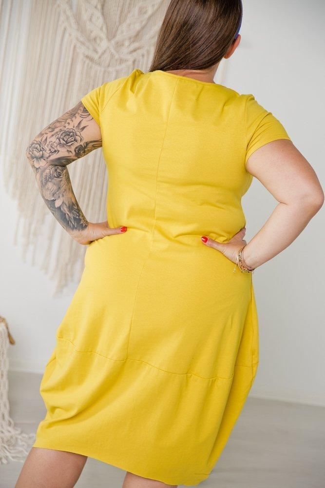 Żółta Tunika SHELLY Plus Size Wzór 1