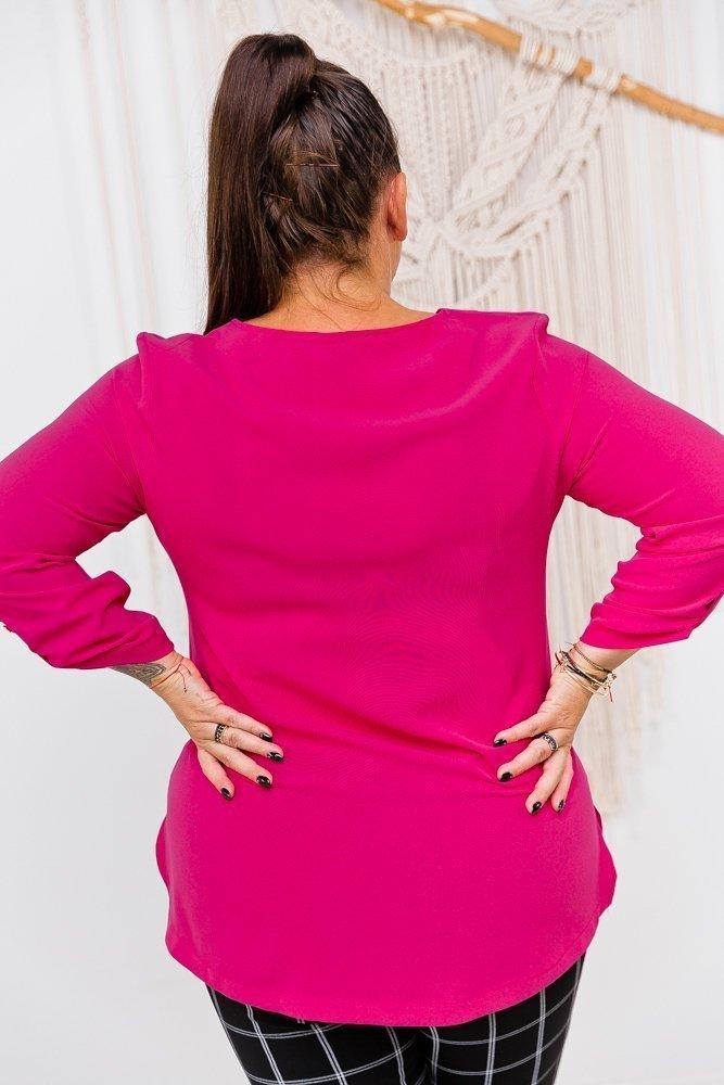 Amarantowa Bluzka COLEY Plus Size
