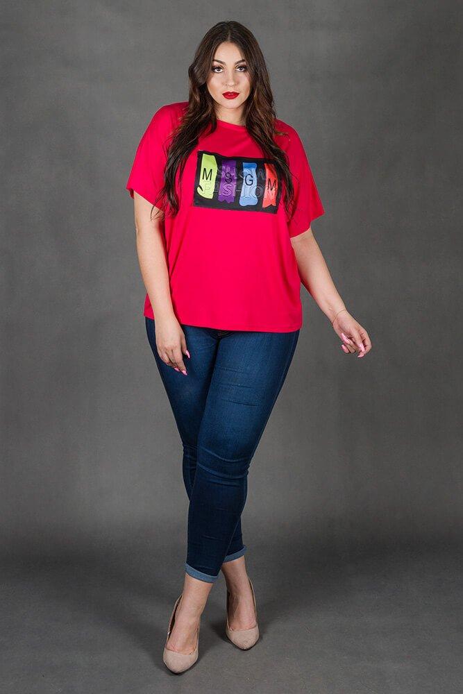 Amarantowa Bluzka SHOW Plus Size
