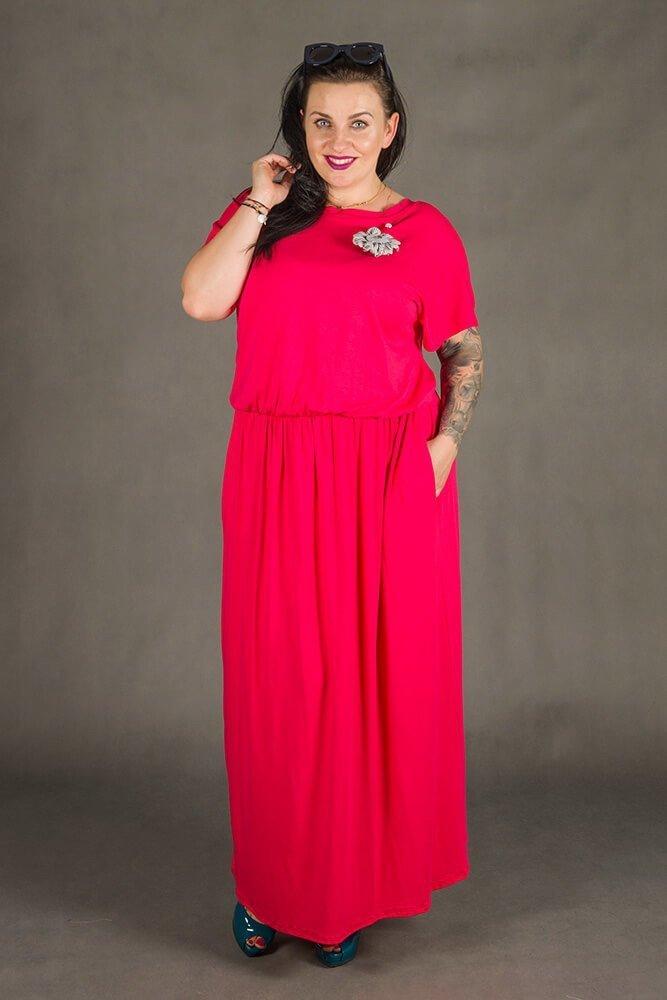 Amarantowa Sukienka FILA Maxi Plus Size