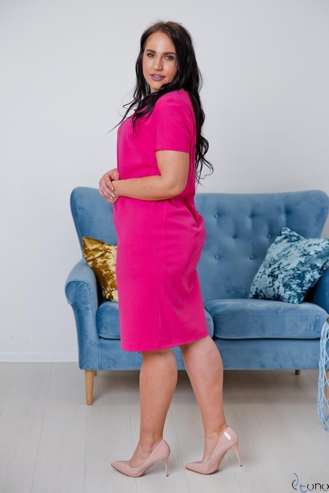 Amarantowa Sukienka MELIA Plus Size