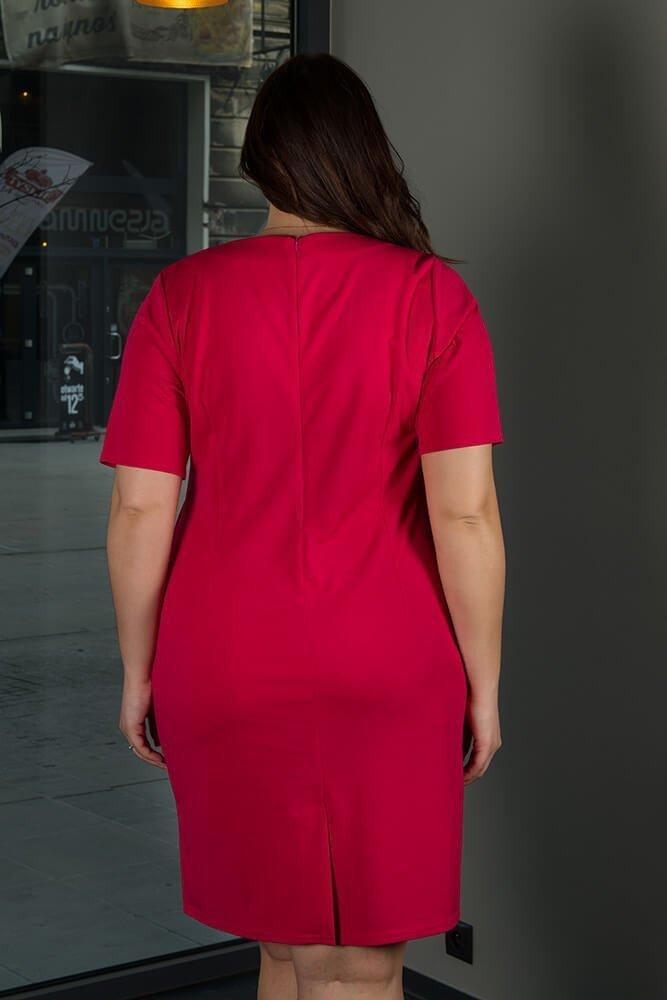 Amarantowa sukienka damska BAUTISTA Plus Size