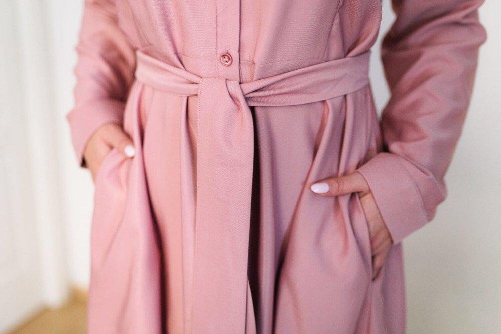 Różowa Sukienka SHELBY Plus Size