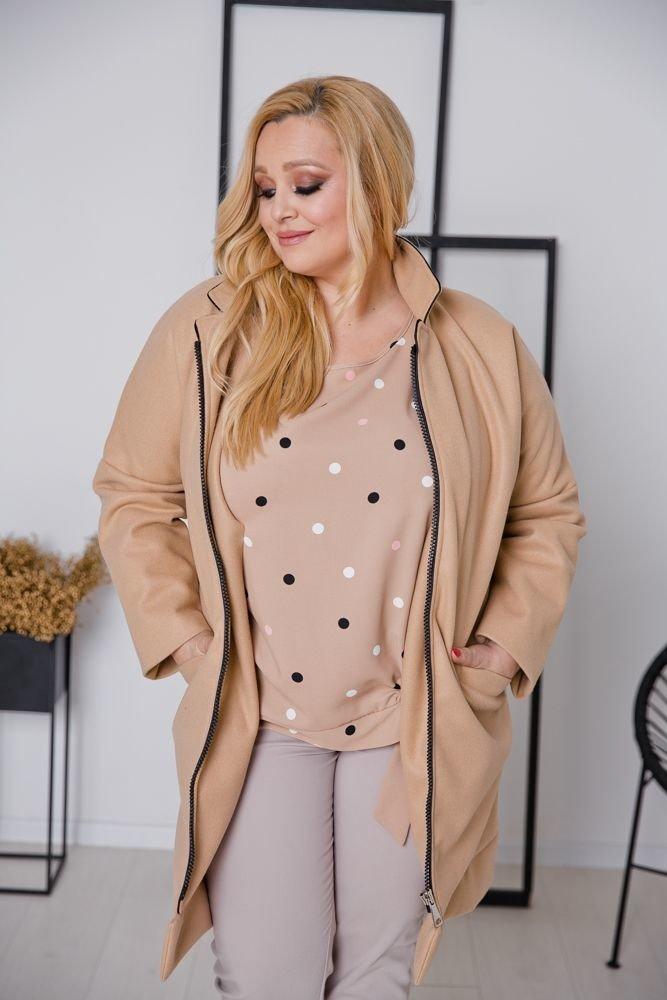Beżowy Płaszcz BLAIR Plus Size