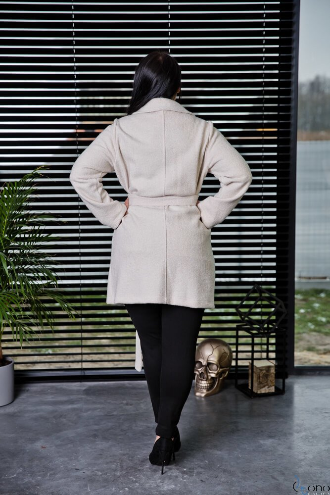 Beżowy Płaszcz REBEL Plus Size